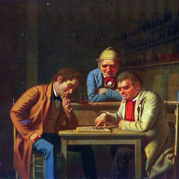 "George Caleb Bingham The Checker Players (also known as Playing Checkers) - 16"" - 16"" x 20"" George Caleb Bingham The Checker Players (also known as Playing Checkers) premium archival print reproduced to meet museum quality standards. Our museum quality archival prints are produced using high-precision print technology for a more accurate reproduction printed on high quality, heavyweight matte presentation paper with fade-resistant, archival inks. Our progressive business model allows us to offer works of art to you at the best wholesale pricing, significantly less than art gallery prices, affordable to all. This line of artwork is produced with extra white border space (if you choose to have it framed, for your framer to work with to frame properly or utilize a larger mat and/or frame).  We present a comprehensive collection of exceptional art reproductions byGeorge Caleb Bingham."