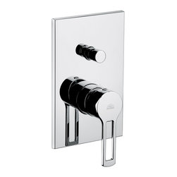 WS Bath Collections - WS Bath Collections Ringo Shower Mixer with Diverter in Polished Chrome - Concealed Shower Mixer with Diverter