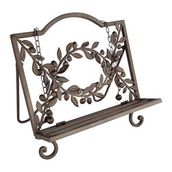 Olive Cookbook Stand   Tableware - Wisteria's fine tableware selection includes many elegant kitchen & dining room accents including this olive cookbook stand.