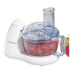 Hamilton Beach - Hamilton Beach - 6 Cup Bowl Food Processor - In-bowl blade storage . Space-saving design . 300 Watt motor . Convenient On/Pulse dial . Dishwasher safe . TrueSharpTM blades