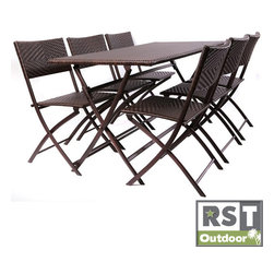 Red Star Traders - Red Star Traders Perfect Outdoor Folding Table/ Chair Set - Create the perfect setting for outdoor entertainment with this furniture set. This durable set includes six chairs and one table.
