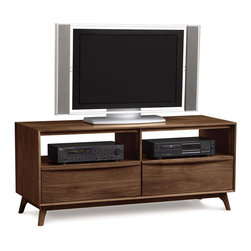 """Copeland Furniture - Copeland Furniture Catalina TV Stand 53"""" 5-CAL-49-04 - Catalina media and occasional pieces include two TV stands (66"""" or 53"""") designed with wire management to organize your home entertainment equipment that is complemented by optional bookcases (sold seperately)."""