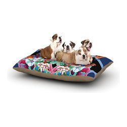 """Kess InHouse - Danii Pollehn """"Herz"""" Blue Floral Fleece Dog Bed (30"""" x 40"""") - Pets deserve to be as comfortable as their humans! These dog beds not only give your pet the utmost comfort with their fleece cozy top but they match your house and decor! Kess Inhouse gives your pet some style by adding vivaciously artistic work onto their favorite place to lay, their bed! What's the best part? These are totally machine washable, just unzip the cover and throw it in the washing machine!"""