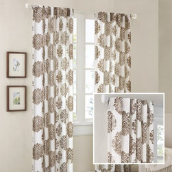 """The Finishing Touches! - Finish off your bare windows with these pretty drapery panels in a large printed pattern!  These are ready to go, non-custom and sold per panel.   $60 + tax for an 84"""" panel and $65 + tax for a 96"""" panel."""
