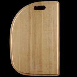 Houzer - Half-Round Kitchen Sink Cutting Board Accesso - For use with Houzer products only. Fits MS-2409, MG-3209, PMS-2522, PMG-3322, RMG-2522, PMG-3322. Hardwood cutting board. Reversible and designed to fit both undermount and topmount. 13.5 in. x 20 in. x 0.75 in.T . Oak. 1 Year Warranty. 13.5 in. W x 20 in. H x in. D. Product Specifications