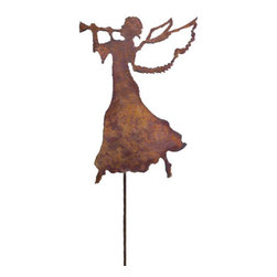 Rustica Ornamentals - Rustic Christmas Angel, Rustic, Garden Stake - This handcrafted Rustic Angel will become a charming and fun piece to decorate your home or garden with. Add elegance to your yard any time of the year.