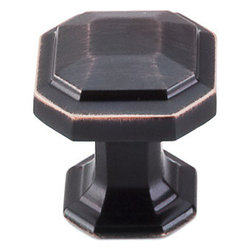 "Top Knobs - Emerald Knob 1 1/8"" - Tuscan Bronze - ,Width - 1/18"",Projection - 1 1/4"",Base Diameter - 7/8"""