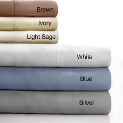Windsor - Lavish Home Cotton Blend Sateen 600 Thread Count Queen-size Sheet Set - Bring both luxury and comfort to any bed with the Lavish Home 600 thread count cotton sateen 4-piece queen-size sheet set. These machine washable sheets are available in a variety of colors that will complement your current decor.