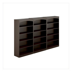 Mayline - Mayline Brighton 5 Shelf Wall Bookcase (1 fixed shelf) in Mocha - Mayline - Bookcases - BTB5S36LDCPKG - Mayline Brighton 5 Shelf Bookcase (1 fixed shelf) in Mocha (included quantity: 3) The Brighton Series is Mayline_s most affordable, complete line of REAL Office casegoods. With all laminate construction, it provides the durability and affordability you would expect, but with an added sense of style. Brighton offers matching Cherry and Mocha finishes to our higher end Aberdeen Series line, allowing you to specify for different levels within an organization.