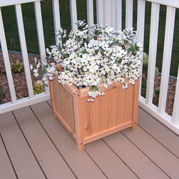 Prairie Leisure - Prairie Leisure 17 in. Prestige Planter Box - 32-UNFINISHED - Shop for Planters and Pottery from Hayneedle.com! About Prairie LeisureLocated in Pierz Minn. Prairie Leisure Design manufactures casual outdoor furniture. Their products have a traditional design and are made in the USA from Red Cedar or Aspen a North American hardwood. They offer a wide variety of products designed for every age group: elderly adults juniors and kids. Ideal for relaxing and socializing in the great outdoors Prairie Leisure Design furniture adds comfort and style to any backyard or patio.