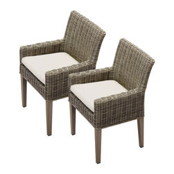 TKC - 2 Royal Dining Chairs With Arms 2 for 1 Cover Set 2 Yr Fade Warranty - Full sized furniture to ensure your comfort