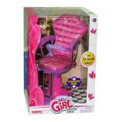 Enertec My Girl Salon Chair - About Kidz DelightJust like Santa Claus, Kidz Delight is one of the nation's largest toy and gift distributors. Under the Group Sales, Inc. umbrella, they've been providing quality toys and gifts at fair prices for years. Kidz Delight is a leader in early childhood electronic learning aids and dozens of their toys have won awards. From interactive memory games to smart cards, to musical instruments, Kidz Delight toys will make your little one smile.