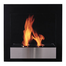 "Bioflame Pure Wall Mounted 8,000 BTU Fireplace /w Brushed Stainless Steel Fascia - 32954001 Features:      - 8,000BTU or 2.3Kw/h (heats on average 23m2 or 248ft2) - Stainless Steel Construction - Brushed Stainless Steel Fascia - 8mm Tempered Glass - 2 Fuel Canister- H 23.6"" (600mm) W 23.8"" (600mm) D 11.0"" (280mm)FuelWant to know something sweet about the ethanol fuel used in Bio Flame fireplaces? It's all based on sugars!That's right, the Bio Flame ethanol fuel is so environmentally friendly that it is created through a fermentation process of sugars, including those from sugar cane, corn, beets, and potatoes. These natural, all-reable resources work together to create an ethanol fuel source that provides not only heat, but a beautiful, dancing flame, as well.Some of the additional benefits of using the Bio Flame ethanol fuel include:Environmentally friendly. Ethanol fuel is all-natural and made from reable resources. This means that you are not cutting down valuable trees that take much longer to regenerate.Better breathing. There is no air pollution with the Bio Flame ethanol fuel. This means that you, as well as everyone else, help to keep chemicals and toxins from being released into the air. You will breathe better in your home, and everyone else benefits from the reduction of pollutants, as well. There's no odor or smoke to worry about, either, providing you with a safe flame.Cleaner source. Ethanol fuel creates a clean heat source, eliminating the need to worry about cleaning soot or ash. Cleaning the Bio Flame fireplace is a breeze.Super simple. The ethanol fuel used in the Bio Flame fireplace is simple to use. Within seconds, you will have it refilled, never having to worry about spills or trekking out into the cold weather for another log.The Bio Flame environmentally friendly fireplaces use ethanol fuel, because it provides a better heat choice for you, and for everyone else. You never compromise on having a beautiful-looking fireplace, warmth, and a beautiful flame. Ethanol fuel provides all the things you want, and nothing you don't. When it comes to having a fireplace, it doesn't get much sweeter than that!Benefits of an Ethanol Fireplace When it comes to purchasing a fireplace, you have a lot of options  available to you. But that doesn't mean they are all going to give you  great benefits. Sure, they will all provide you with some heat (or at  least should) but, for some fireplaces, that is where the benefits both  begin and end. When you choose a Bio Flame environmentally friendly  fireplace, you get a list of benefits, some in areas you may not even  have thought about! Here are some of the benefits you will get by using a Bio Flame ethanol fuel fireplace:No heat loss. With a traditional fireplace that has  a chimney, you will lose 70 percent of the heat, and will only get to  warm your home with 30 percent. With a Bio Flame ethanol fuel fireplace,  however, your home will get 100 percent of the   heat. There is no  chimney, so all the heat stays in the home.Reable resources. Ethanol fuel that is used in  the Bio Flame fireplace is made from sustainable resources. The ethanol  fuel is made from fermenting sugars, including the use of cane sugar,  beets, potatoes, and corn. Our oxygen-producing trees never get cut  down, just to be burned up.No air pollution. Traditional fireplaces put a lot  of pollutants into the air, including chemicals, smoke, and toxins. The  Bio Flame ethanol fireplace burns clean, so you never have to worry  about any air pollution from it, nor about any ash, soot, or smoke.Beautiful appearance. Many people fall in love with  the beautiful, stylish designs in which the Bio Flame ethanol  fireplaces are available. They can make any home or office look  top-notch.All natural. The ethanol fuel that is used in the  Bio Flame environmentally friendly fireplace is all-natural. Made from  plant-based materials, it is harmless, and free of toxins.Super easy. Not only is the ethanol fireplace  simple to use, but the ethanol fuel takes only seconds to refill.  Setting up the ethanol fireplace for the first time is also a breeze,  with most people having it ready to use within 30 minutes. Obtaining  ethanol fuel is also a much easier process than trying to obtain wood to  burn.Custom design options. Bio Flame will consider  custom-design options, so if you have something in mind that you want,  let them know. Chances are, they can help meet your needs.From retaining more heat to being environmentally friendly and looking  great, the ethanol fuel fireplace comes with a host of benefits. These  are all things to consider and compare when deciding which fireplace is  the right one for you. We are confident that you won't find any other  fireplace that comes close to offering all these benefits! 4001b"
