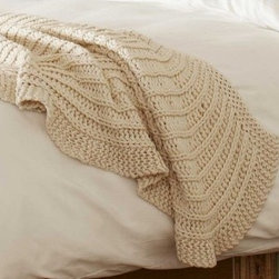 Knit Throw, Natural - We all need a creamy, knit throw in our lives and bedrooms.
