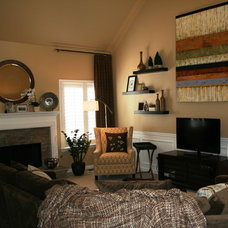 Contemporary Family Room by Interior Styles, Inc.
