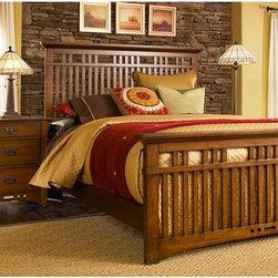 Broyhill - Artisan Ridge Queen Slat Bed - 4078-256Q - Broyhill - Artisan Ridge Queen Slat Bed - 4078-256Q