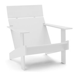 Loll Designs - Lollygagger Lounge, Cloud White - Sometimes there's nothing wrong with letting the day get away from you. Grab a book and glide back into this breezy lounge chair. Its angled design nestles you in comfort, confirming that you're doing exactly the right thing.