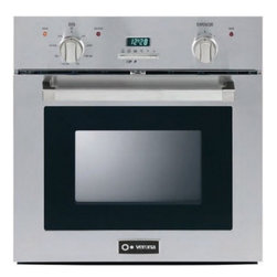 "Verona - VEBIE24PSS 24"" Single Electric Wall Oven with 2.0 cu. ft  European Convection Ov - The Verona brand of hand-made quality cooking appliances is now available in North America Exquisitely designed and manufactured in Italy the Verona name has been the benchmark for durable and beautiful European professional appliances since 1958 Ver..."