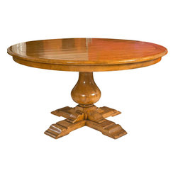 Bausman Pedestal Dining Table Attributed To Bausman