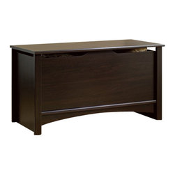 Sauder - Sauder Shoal Creek Storage Chest in Jamocha Wood Finish - Sauder - Blanket Chests - 412092 -   About The Shoal Creek Collection: