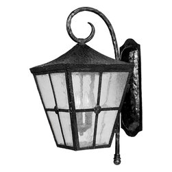 Maxim Lighting - Maxim Lighting 30234CDCF Castille 3 Light Outdoor Wall Lights in Country Forge - Castille is a traditional, early American style collection from Maxim Lighting International in Country Forge finish with Seedy glass.