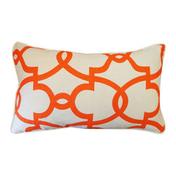 Jiti - Dean Cream Orange Pillow - Jazz up your home decor with our Dean Cream Orange Pillow!  Made from 100% Cotton. Invisible Zipper. DRY CLEAN ONLY. Insert is made of 95% feathers and 5% down.