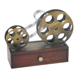 Sterling Lighting - Reel To Reel Box - One storage drawer. Made from wood and metal. 15 in. L x 13 in. W x 6 in. H