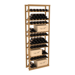 Wine Racks America - Baker Style Case/Bottle Rack in Pine, Oak Stain - This wine rack kit is a versatile and beautiful addition to your wine cellar. This rock solid kit withstands extensive use of storing bottles and cases together in one place. That's a guarantee. As a freestanding solution or included with a complete wine cellar, you'll love this rack.