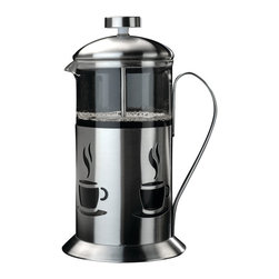 Berghoff - Berghoff Cook & Co. French Press 4-Cup - French presses, commonly referred to as coffee plungers create a smooth, pure coffee flavor. For best results use coarse ground coffee, just pour and serve. Makes 4 cups. Constructed of stainless steel with a decorative finish and glass carafe.