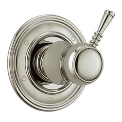 Brizo - Brizo T60910-PN Traditional Polished Nickel 6 Setting Divert Trim - The Brizo T60910-PN is a 6-setting diverter trim from Brizo's Traditional design suite for that timeless style, and comes in a Polished Nickel finish.
