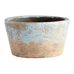 Cyan Design - Cyan Design Large Petra Planter in Blue Glaze - Large Petra Planter in Blue Glaze