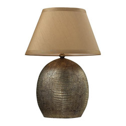 Dimond Lighting - D2221-LED Gilead Table Lamp, Meknes Bronze - Transitional Table Lamp in Meknes Bronze from the Gilead Collection by Dimond Lighting.