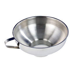 Cuisinox - Cuisinox Canning Funnel - This canning funnel is an absolute necessity for canning or preserving. It fits perfectly and securely on standard jars and is wide enough to accommodate fruit wedges or halves. No more spills, no more sticky messes on rims and lids that won't seal.
