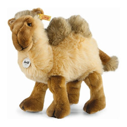 Steiff - Steiff Kadir Camel - Steiff Kadir Camel is made of cuddly soft beige and brown woven plush. Machine washable. Ages 3 and up. Handmade by Steiff of Germany.