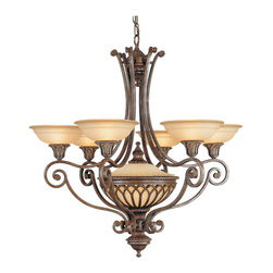 Stirling Castle Collection 6- Light Single Tier Chandelier - Item Weight: 41.8