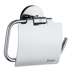 Smedbo STUDIO Toilet Paper Holder With Cover NK3414 - Toilet Roll Holder With Lid. Concealed fastening.
