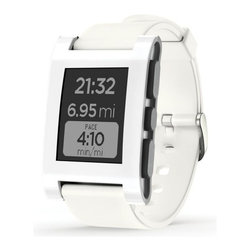 test item 4 (do not buy), White - The Pebble Smartwatch connects to your iPhone or Android device via Bluetooth so you get the information you need exactly when you need it. Designed to make your life easier, Pebble provides personalized notifications and downloadable apps to keep you in the loop when you're on the go. You can also customize with watchfaces and apps to suit your personal style and interests. It features a long-lasting battery, user-friendly operation, and a screen that's readable even in bright daylight or underwater. Pebble comes with a USB charging cable and Quick Start Guide.