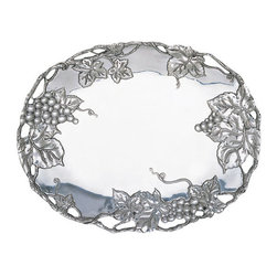 Arthur Court - Grape Oval Platter - Can you ever have enough platters? Not according to your mother. And who says they're to be used for entertaining? You can display anything you want on this. Candles, potpourri, pinecones … you get the idea.