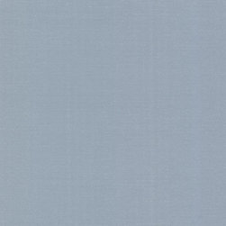 Brewster Home Fashions - Emile Blue Texture Wallpaper Bolt - An heirloom blue wallpaper with a fine woven texture. Threads of silver run through the pattern adding an intriguing but subtle sophistication.