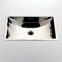 The Normandy Sink - Hand hammered copper sink in a nickel finish. Truly elegant.