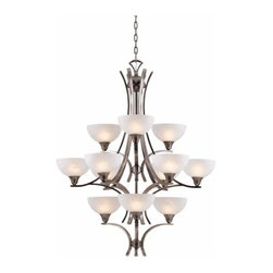 Triarch International - Triarch International 29771 Luxor 12 Light 3 Tier Chandelier - Features: