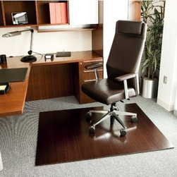 Anji Mountain - Bamboo Deluxe Hard Floor Rounded Edge Chair Mat - Our patented Bamboo Office Chairmats have introduced eco-friendly style to what was formerly an unattractive and purely functional accessory. Naturally elegant bamboo is more durable than a plastic mat and adds a charming organic touch to any area. Features: -Designed for Berber/Loop carpet (up to 3/8'' thick, with carpet pad) and hard floors.-8mm thick--nearly 60% thicker than 5mm model for greater durability.-Felt backing with non-slip gripper dots keeps mat in place.-Rounded edges for easy access on and off the mat.-Rolls up so it's easy to ship and carry.-100% Moso bamboo is sustainably harvested in its native habitat in the Anji Mountains of China.-Note: Please be aware that actual colors may vary from those shown on your screen..-Collection: Bamboo.-Distressed: No.Dimensions: -4'' wide slats--twice as wide than the 5mm model for a smoother rolling experience.