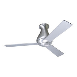 """Modern Fan - 42"""" Modern Fan Altus Aluminum Finish Hugger Ceiling Fan - From Modern Fan this 42"""" Altus ceiling fan comes in a beautiful aluminum finish with three aluminum finish blades. Give your room a contemporary breath of fresh air with the sleek look of this modern ceiling fan. Includes a 4-speed wall control for fan speed only. 153 x 18mm motor size. Limited lifetime motor warranty. 42"""" blade span. 12 degree blade pitch. (UM)  Aluminum finish motor finish.  Hugger close to ceiling fan.  Three matching blades.  42"""" blade span.   12 degree blade pitch.   153 x 18mm motor size.   Limited lifetime motor warranty.   Includes a 4-speed wall control for fan speed only.   Fan height 12"""" ceiling to bottom of the fan."""