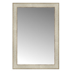 """Posters 2 Prints, LLC - 17"""" x 24"""" Libretto Antique Silver Custom Framed Mirror - 17"""" x 24"""" Custom Framed Mirror made by Posters 2 Prints. Standard glass with unrivaled selection of crafted mirror frames.  Protected with category II safety backing to keep glass fragments together should the mirror be accidentally broken.  Safe arrival guaranteed.  Made in the United States of America"""