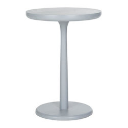 Safavieh - Taliah End Table - Elegant in its simplicity, the Taliah round end table by Safavieh is artfully crafted of exotic bayur wood in a pearl blue-grey finish. Graceful yet contemporary in design, this end table is the perfect complement to transitional and modern seating. No assembly required.
