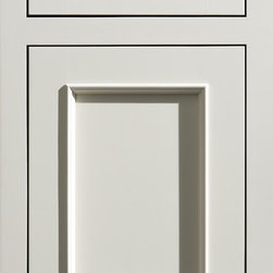 """Dura Supreme Cabinetry - Dura Supreme Cabinetry Chapel Hill Panel Inset Cabinet Door Style - Dura Supreme Cabinetry """"Chapel Hill Panel"""" inset cabinet door style in Paintable shown in Dura Supreme's """"Antique White"""" paint finish with concealed inset hinge option. (With non-beaded frame)"""