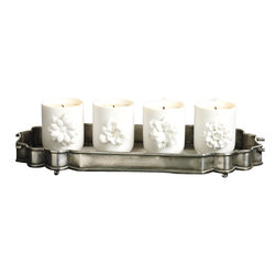 Zodax - Zodax Cabinet de Curiosites Candle Jar (Set of 4) - Zodax - Candle Holders / Lanterns - IG1215S - Cabinet de Curiosites Candle Jar
