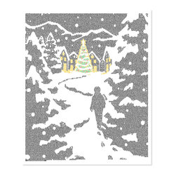 Postertext - Four Christmas Stories From Charles Dickens Art Print - Made Entirely With Text - Four Christmas Stories from Charles Dickens poster is created using the entire text of the book.