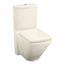 KOHLER - KOHLER K-3588-47 Escale Two-Piece Elongated Toilet with Seat - KOHLER K-3588-47 Escale Two-Piece Elongated Toilet with Seat in Almond