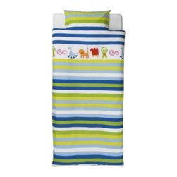 BARNSLIG RAND Duvet cover and pillowcase(s) - Duvet cover and pillowcase(s), blue
